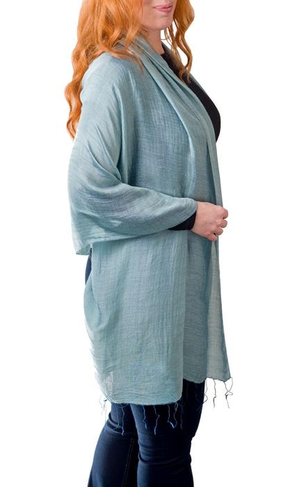 silk linen scarf