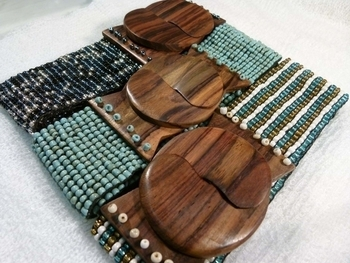 Image Beaded Belts and Bracelets