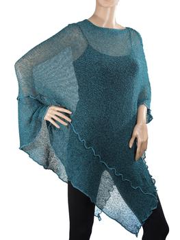 Image Tissue Knit Long Poncho