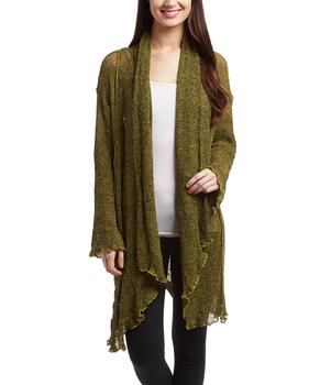 Image Tissue Knit Long Sleeve Jacket - RU