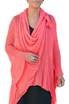 Image Tissue Knit Shawl Jacket - RUC