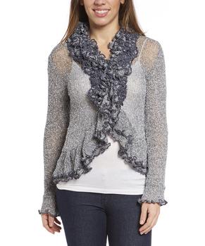 Image Tissue Knit Heavy Ruffle Cardigan - RUL