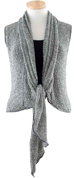 Image Tissue Knit Vest with Tie Front - RUT