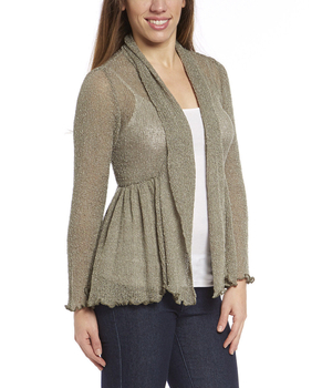 Image Tissue Knit Skirted Cardigan - RUY