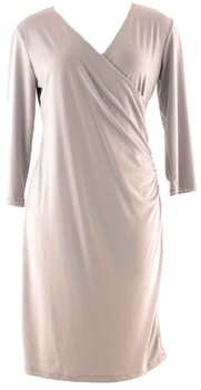 Image Ruched Wrap Dress - VEJ