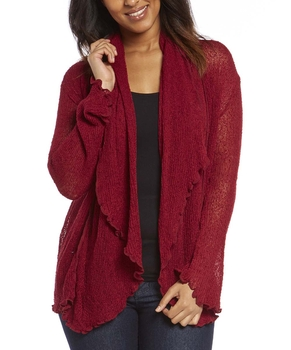 Image Tissue Knit Long Sleeve Cardigan - RUA