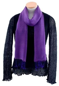 Image Silk/Linen Scarves-Solid - VSF-X