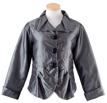 Image Taffeta Big Button Jacket - VBE