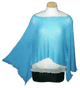 Image Tissue Knit Poncho Tunic - RUX
