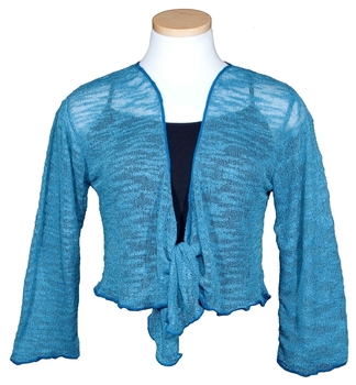 Image Tissue Knit Slub Knit Shrug - RUSUJ
