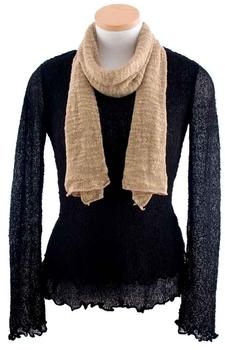 Image Tissue Knit Slub Scarf - QAUJ