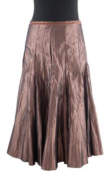 Image Taffeta Solid Color Skirt - VXN