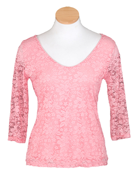 Image Lace Top - V-Neck - VFB