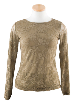 Image Lace Top - Long Sleeve - VFD