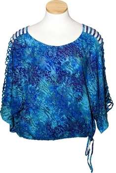Image Rayon Lattice Shoulder Top - RF