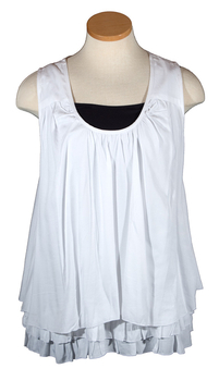 Image Sleeveless Ruffle Top -RAW